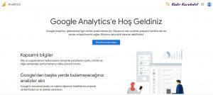 google analytics kurulum